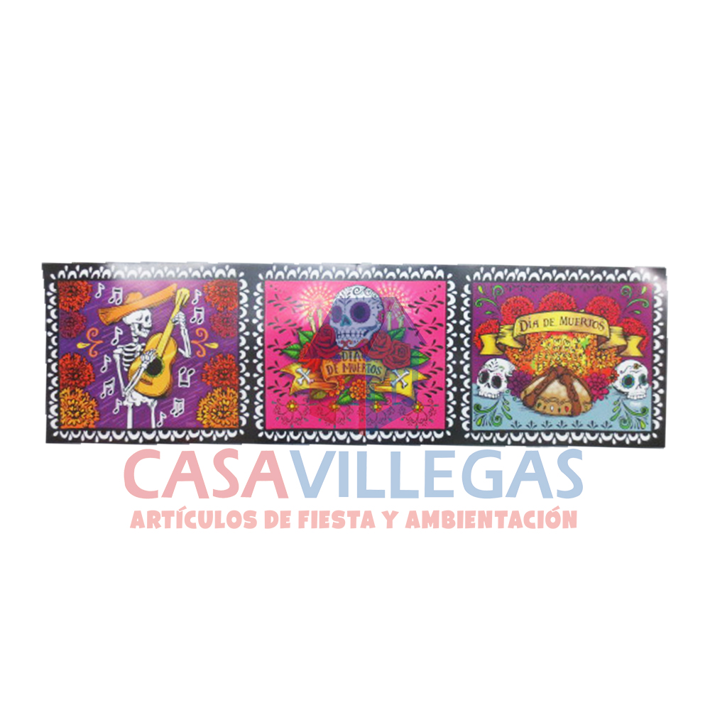 Banda Decorativa Calaveritas  1 pza.