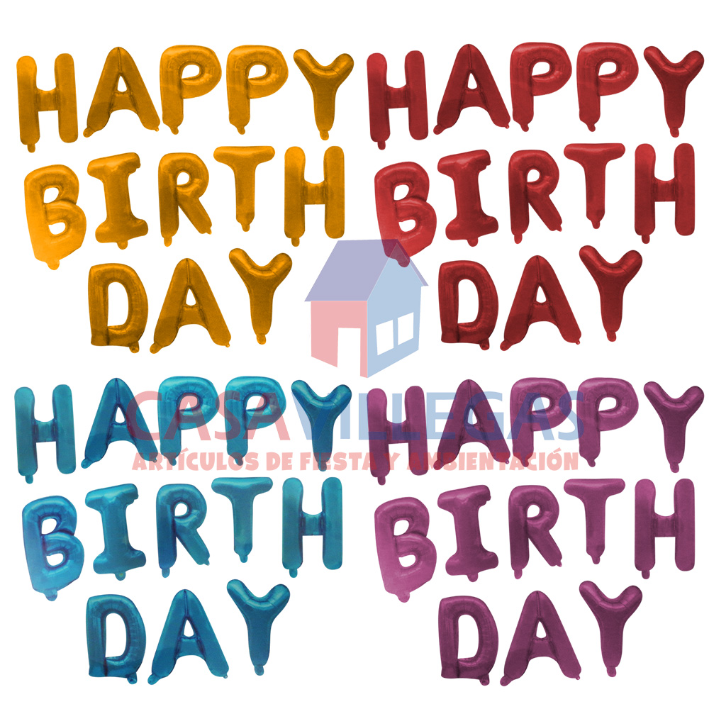 Letras Inflables Happy Birthday 1 Color  1 pza.