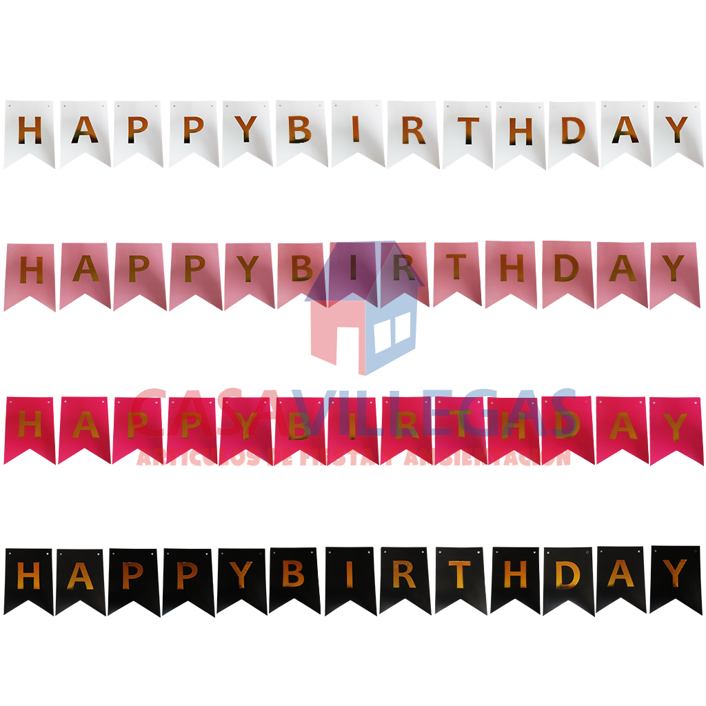 Banderin Decorativo  Happy Birthday  1 pza.