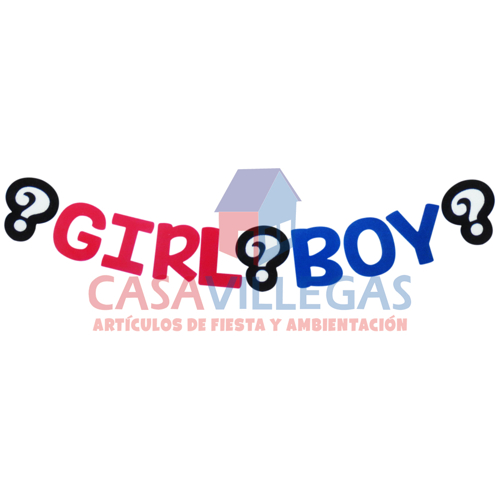 Banner Decorativo Girl-Boy 1.80 mts.aprox.1 pza.