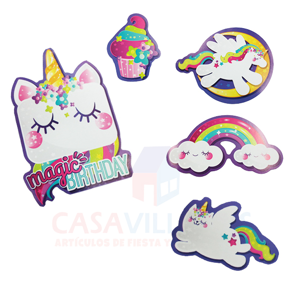 Kit Decorativo Unicornio
