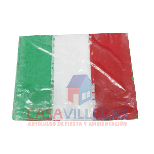 Enramada Papel Vertical Tricolor 5 mts.