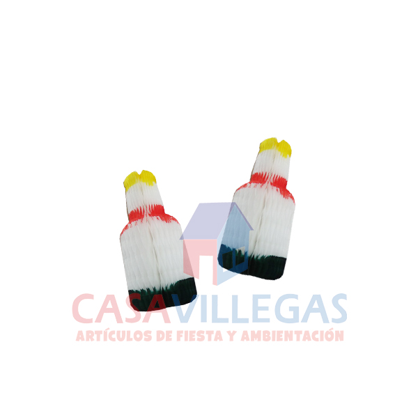 Botella De Papel Tricolor Mini