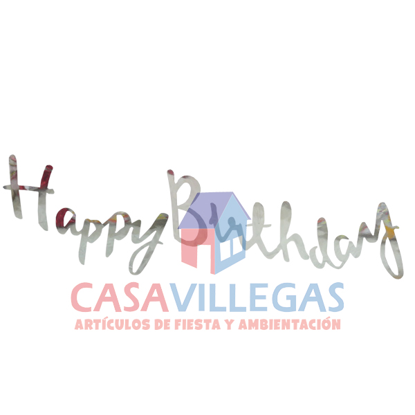 Guia De Letras Happy Birthday En Plata 1.5 M.