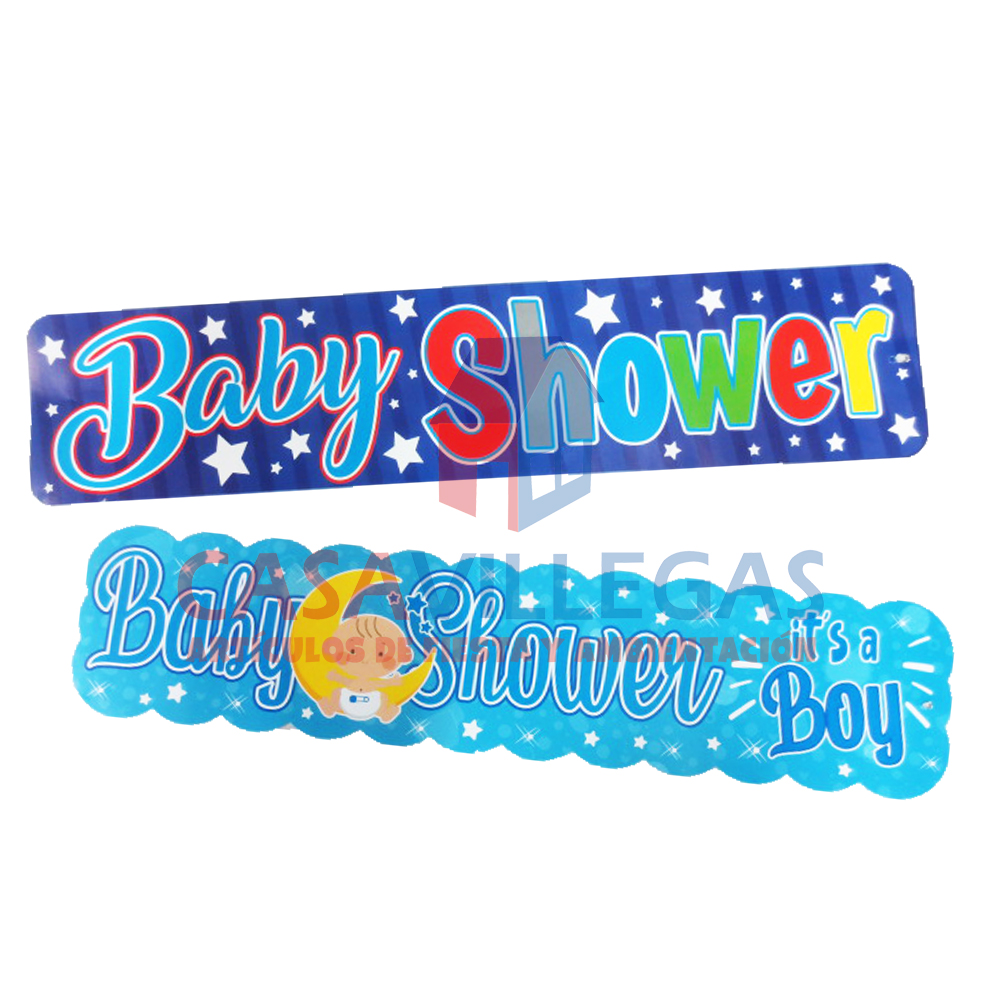 Banner Carton Baby Shower Azul  1 pza.