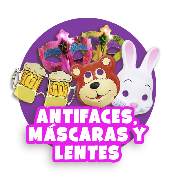 Antifaces, mascaras y lentes