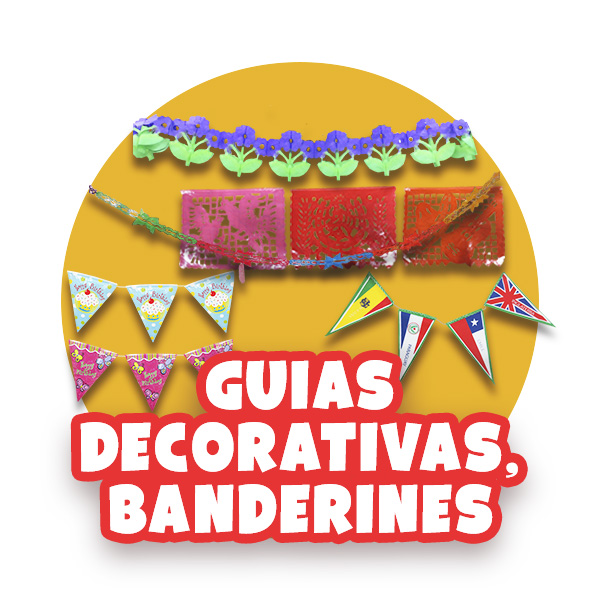 Guias decorativas, Banderines