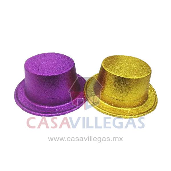 Sombrero Copa Alta Escarchado 24f9ec5672f